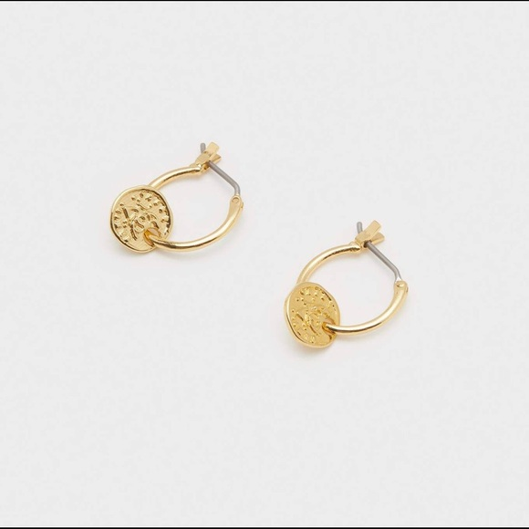 Gorjana Jewelry - Gorjana Ana Coin Huggies Earrings NWT